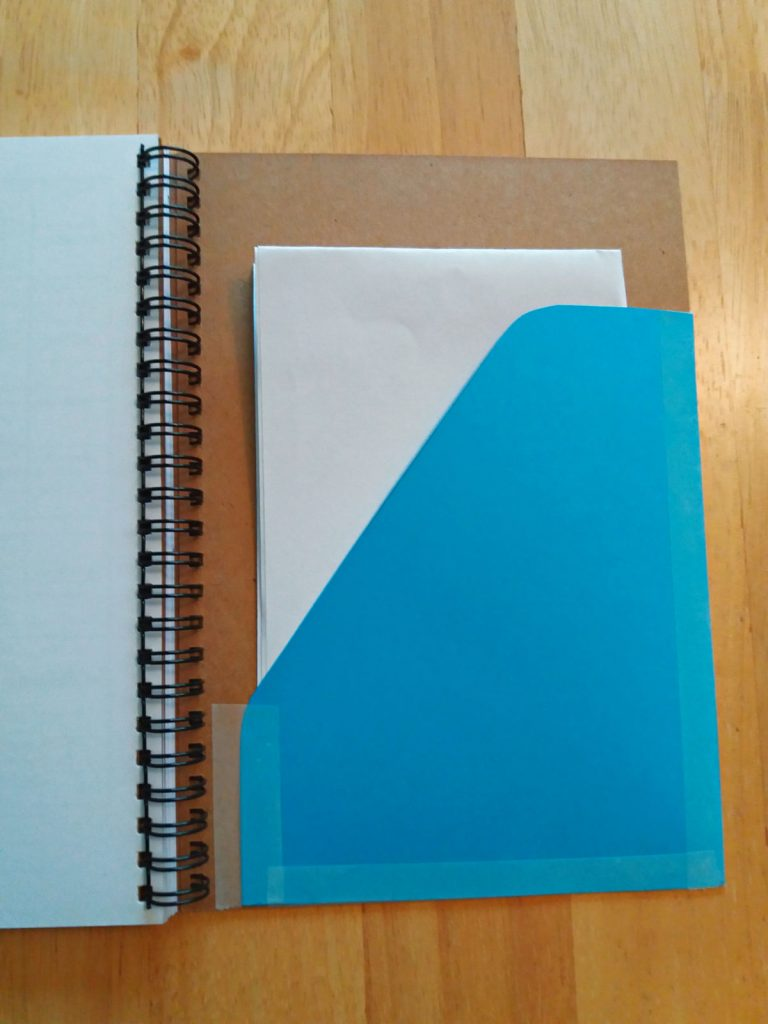Add a cardboard pocket to your Maker's Workbook